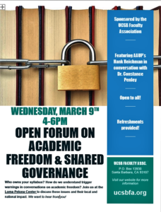 Open Forum on Academic Freedom